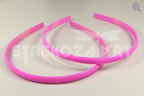 Ободок 8мм (пластик), цвет:  тёмно-розовый