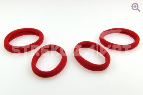 Резинка для волос бесшовная 3см, цвет: красный