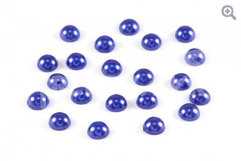 Полубусины под жемчуг 8мм, цвет: синий, 50шт
