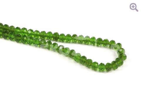 Бусины стеклянные форма рондель 8*6мм, цвет: травянной, 10шт