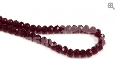 Бусины стеклянные форма рондель 8*6мм, цвет: вишневый, 10шт