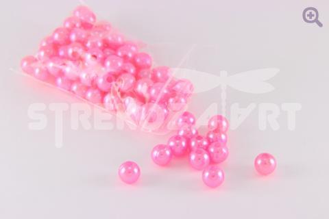 Бусины под жемчуг 6мм, цвет: ярко-розовый, 5г