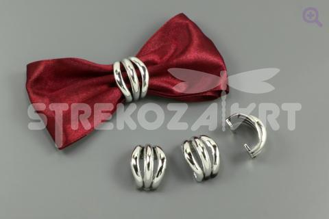 """Пряжка-полукольцо """"Аврора"""" 22*18мм, цвет: серебро"""