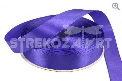 Лента атласная 25мм, цвет: индиго