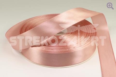 Лента атласная 3мм, цвет: розовое золото