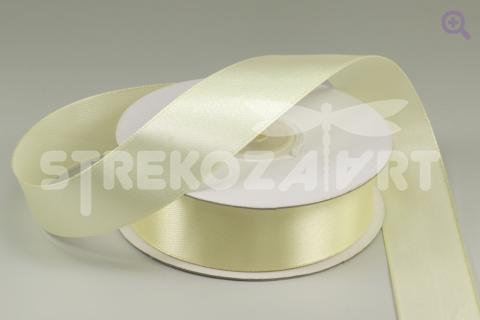 Лента атласная 6мм, цвет: молочный
