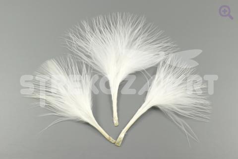 Перо индейки 5-9см, цвет: белый, 5шт