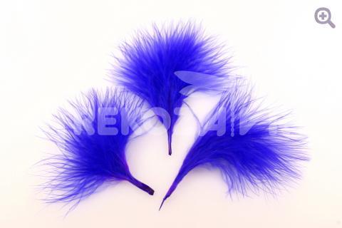 Перо индейки 5-9см, цвет: синий, 5шт