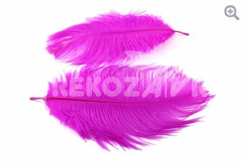 Перо страуса 15-20см, цвет: фуксия