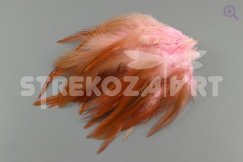 Перья петуха 10-15см, цвет: светло-розовый, 10шт
