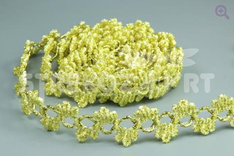 Тесьма люрекс 22мм, цвет: золото