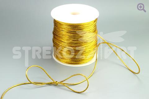 Шнур декоративный круглый, 1мм, цвет: золото