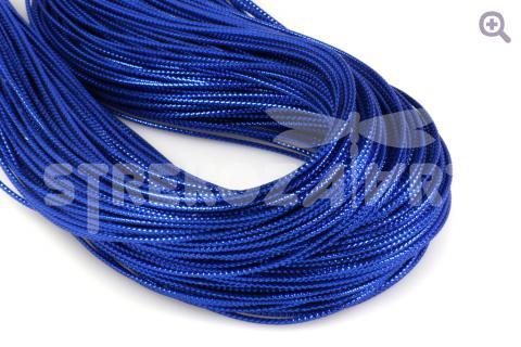 Шнур декоративный (круглый), 1мм, цвет: синий