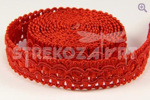Тесьма декоративная 15мм, цвет: красный