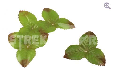 Чашелистик большой 7,5*7,5см, ткань, цвет: коричнево-зеленый