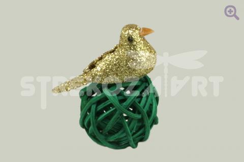 Птичка блеск, 3см, цвет: золото