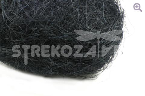 Сизаль (натуральное волокно) цвет: иссиня-черный, 40-50гр