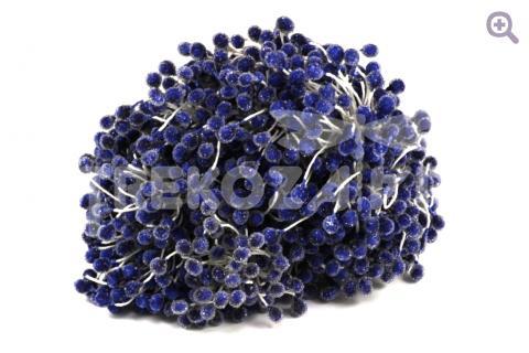 Тычинки сахарные 5мм, цвет: синий, 10шт