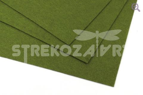 Фетр 20*30, мягкий, толщина 1мм оливковый