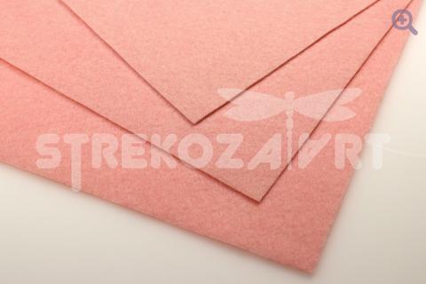 Фетр 20*30, жесткий, толщина 1мм, цвет: розово-персиковый