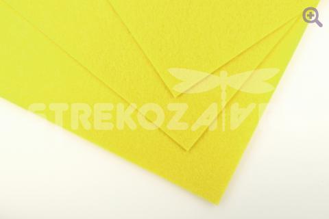 Фетр 20*30см, жесткий, толщина 1мм, цвет: светло-желтый