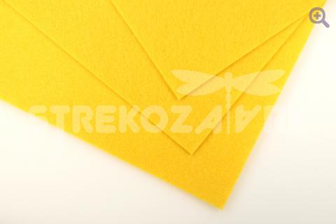 Фетр 20*30, мягкий, толщина 1мм желтый