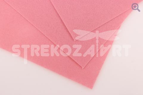 Фетр 20*30, мягкий, толщина 1мм светло-розовый