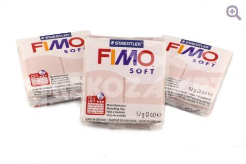 Полимерная глина Fimo Soft нежный розовый 56гр