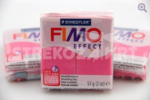 Полимерная глина Fimo Effect красный кварц, 57гр