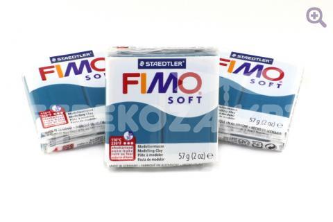 Полимерная глина Fimo Soft синий калипсо, 56гр