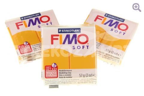 Полимерная глина Fimo Soft апельсин, 56гр