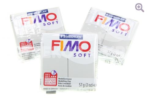 Полимерная глина Fimo Soft серый дельфин, 56гр