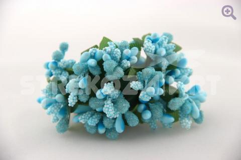 Букетик декоративный, цвет: бело-голубой