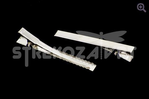 Заколка-основа (75мм, металл)