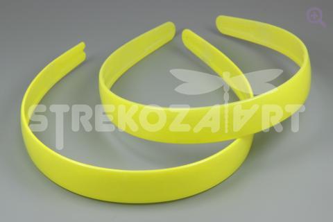 Ободок 20мм (пластик), цвет: желтый