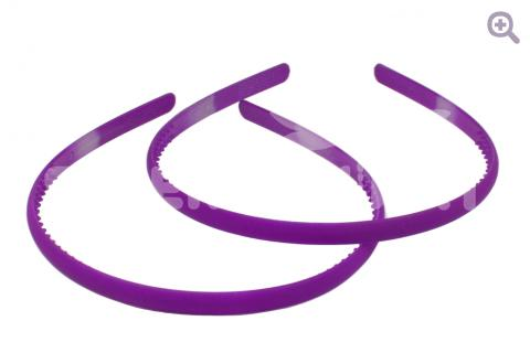 Ободок матовый 8мм, цвет: фиолетовый