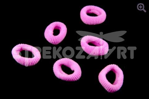 Резинка для волос 3,5 см, цвет: розовый