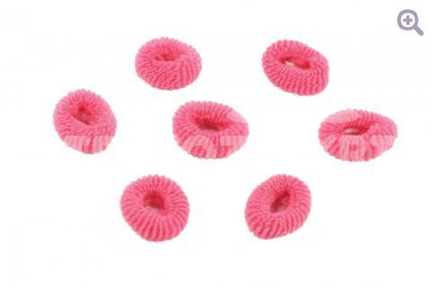 Резинка для волос 3см, цвет: темно-розовый