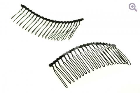 Гребень основа для волос 8см (металл) черный
