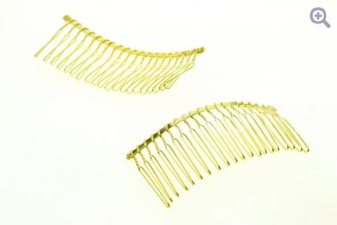 Гребень основа для волос 8см (металл) золото