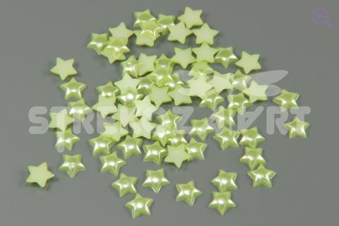 Полубусины Звезда 11мм, упак. 10 шт, цвет: зелёный