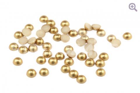 Полубусины под жемчуг 6мм, цвет: золото, 50 шт