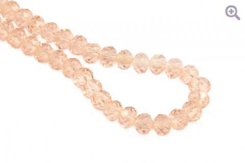 Бусины стеклянные форма рондель 8*6мм, цвет: персиковый, 10шт