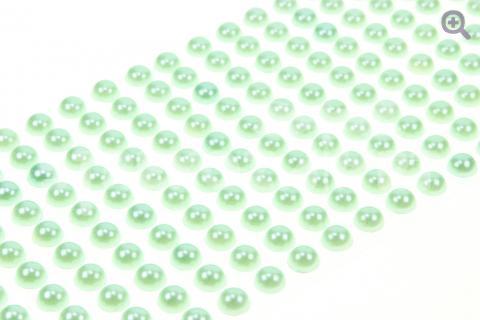 Полубусины на клеевой основе, 8мм, цвет: светло-бирюзовый