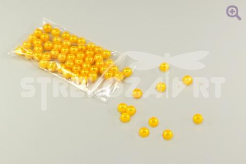Бусины под жемчуг 6мм, цвет: желто-оранжевый, 5г