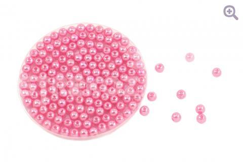 Бусины под жемчуг 6мм, цвет: розовая гвоздика, 5г