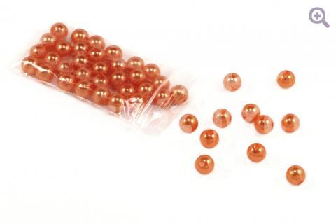 Бусины под жемчуг 8мм, цвет: оранжевая пастель, 5г
