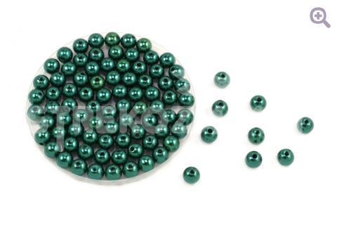 Бусины под жемчуг 6мм, цвет: морской зеленый, 5г