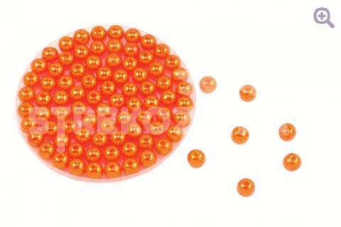 Бусины под жемчуг 6мм, цвет: ярко-оранжевый, 5г