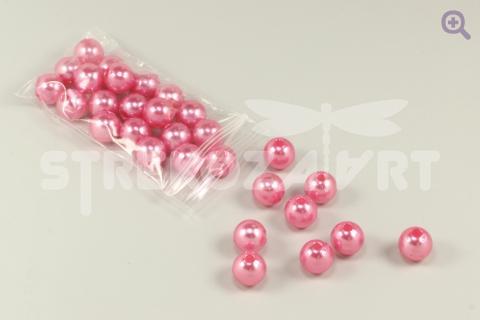 Бусины под жемчуг 10мм, цвет: ярко-розовый, 10шт